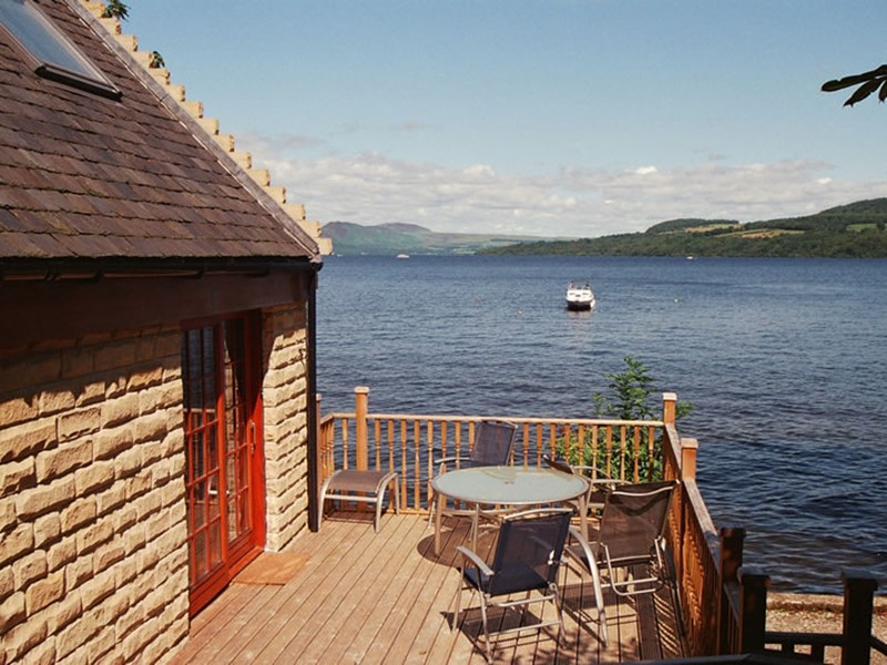 Waterfront Self Catering Lodges and Cottages Overlooking Loch Lomond in Scotland
