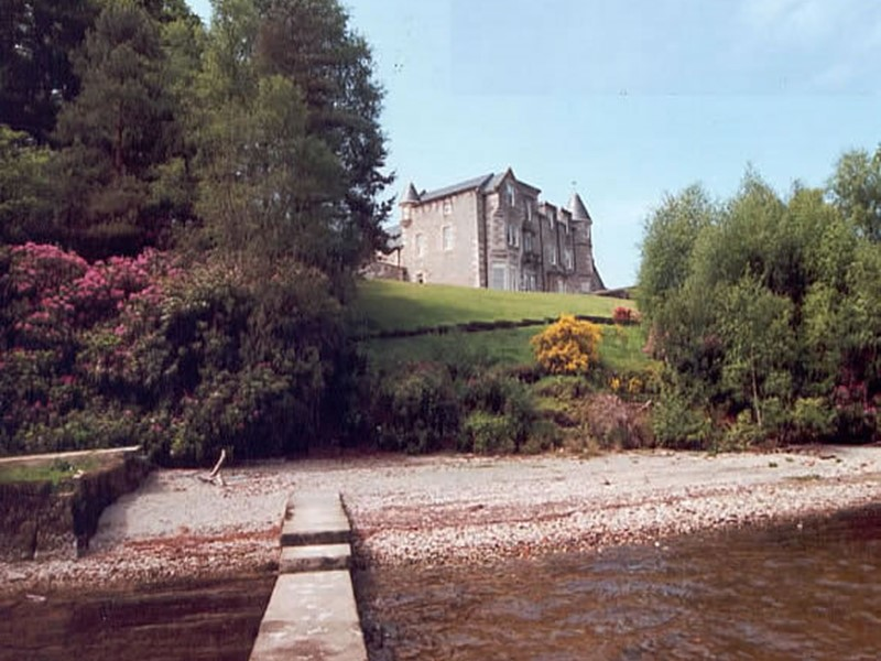 Luxury Castle Accommodation with views overlooking Loch Lomond in Scotland