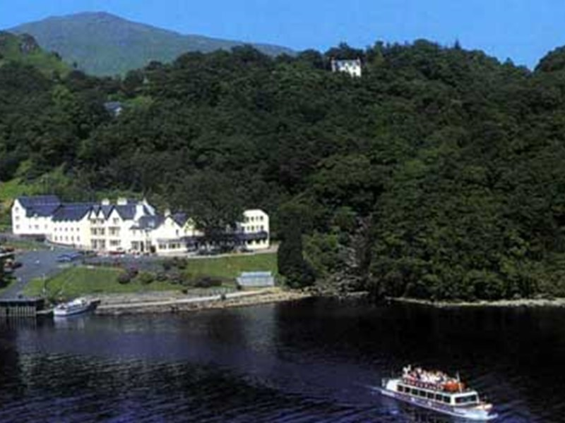 Hotel accommodation at The Inversnaid Hotel overlooking Loch Lomond in Scotland